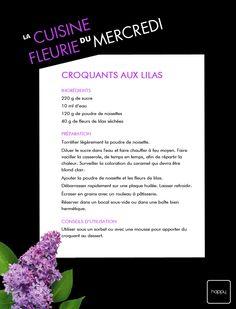 la #cuisine fleurie du mercredi ! Croquants aux #lilas !