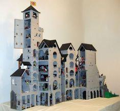 Kestrel Tower: A LEGO® creation by Brian Corredor : MOCpages.com Lego Village, Lego Boards, Lego Modular, Lego Construction, Lego Castle, Lego Projects, Everything Is Awesome, Cool Lego, Lego Building