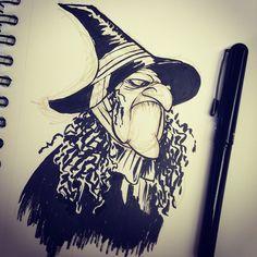 #witch for #inktober #inktober2GO @inktober #halloween #bubblebubble #cartoons #breaks...   Use Instagram online! Websta is the Best Instagram Web Viewer!