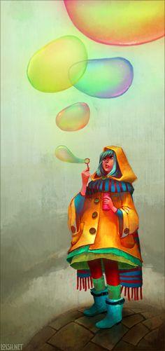 bubbles of color by loish.deviantart.com on @deviantART