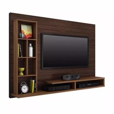 Living room tv wall modern design media consoles 32 ideas for 2019 Tv Cabinet Design, Tv Wall Design, House Design, Wall Tv Stand, Tv Stand Unit, Tv Stands, Tv Unit Interior Design, Tv Unit Design, Tv Unit Decor