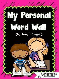 personal word wall book for writing folders Writing Words, Writing Lessons, Writing Resources, Personal Dictionary, Dictionary Words, 1st Grade Writing, Kindergarten Writing, Preschool Literacy, 2nd Grade Classroom