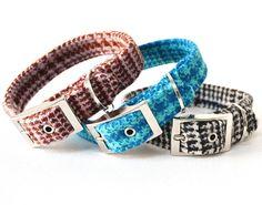 the greeba check tweed dog collar by doggielicious   notonthehighstreet.com