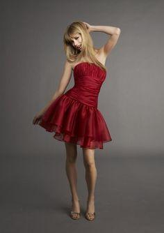 evening dresses short 2014 a-line strapless ruffles short/mini glamorous natural red chiffon celebrity dresses Prom Dress 2013, Dresses 2013, Cute Dresses, Beautiful Dresses, Dresses Dresses, Party Dresses, Dresses Online, Cheap Dresses, Formal Dresses