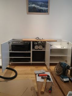 I have recently completed an AV unit hack based on METOD kitchen cabinets and ideas I saw on this site for similar types of units. & IKEA METOD cabinets into AV unit | Pinterest | Ikea hackers Ikea ...