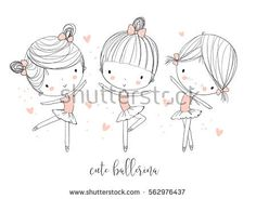 Find Cute Ballerina Girls stock images in HD and millions of other royalty-free stock photos, illustrations and vectors in the Shutterstock collection. Ballerina Cartoon, Girl Cartoon, Doodle Girl, Family Vector, Girl Clipart, Kawaii Doodles, Girl And Dog, Illustration Girl, Baby Kind
