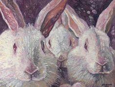 Rabbit Paintings - Hard Bunnies  by Gill Bustamante