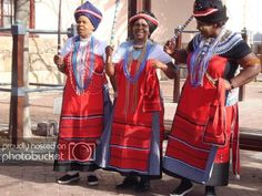 Xhosa women in their Xhosa traditional attires African Shirts, African Wear, African Women, African Dress, African Tribes, African Clothes, African Attire, African Style, African Print Fashion