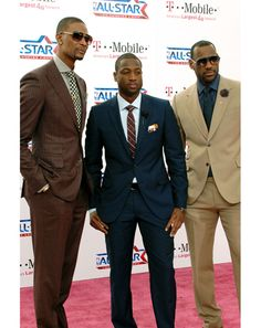 """NBA Players Style History: Style: GQ Chris Bosh, Dwyane Wade, and Lebron James 2011  Love or hate """"The Decision,"""" these guys look slick enough to rob a casino with George Clooney."""