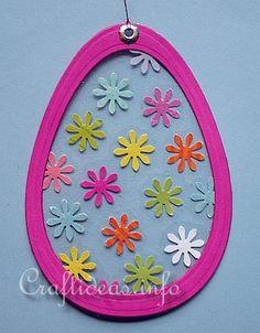Wielkanoc Craft dla dzieci - Transparent Easter Egg dekoracja okien