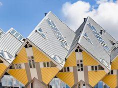 Paalwoningen, Blaakoverbouwing / Cube Houses, Blaak Heights, Rotterdam, by Architect Piet Blom, 1978-84