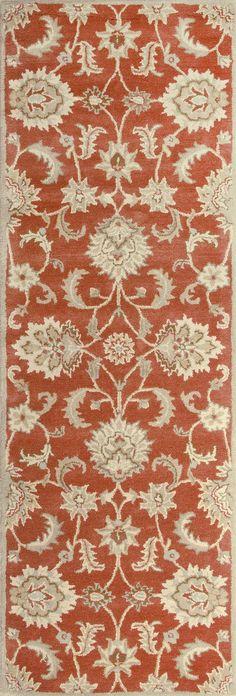 Jaipur Rugs Transitional Oriental Pattern Red/Gray Wool Area Rug MY12 (Runner)