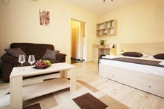 Stylish studio near Old Town, ideal for your accommodation in Bucharest Bucharest, Old Town, Studio, Vacation Rentals, Bed, Table, Furniture, Home Decor, Old City