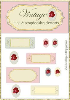 vintage tags and labels – FREE printable