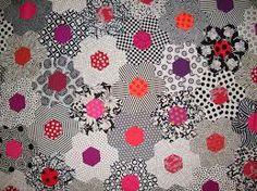 quilt hexagon black white - Google Search
