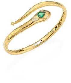 Temple St. Clair Serpent Bella Diamond, Tsavorite & 18K Yellow Gold Bangle. Diamond Jewelry. I'm an affiliate marketer. When you click on a link or buy from the retailer, I earn a commission.