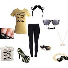 Mustache, created by peetalover55 on Polyvore
