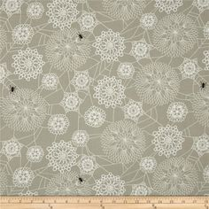 Cotton & Steel Spellbound Floral Web Taupe from @fabricdotcom  Designed by Rashida Coleman-Hale for Cotton & Steel, this cotton print fabric is perfect for quilting, apparel, and home decor accents. Colors include black, taupe, and white.