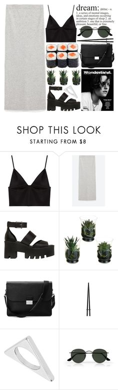 """dreamers"" by evangeline-lily ❤ liked on Polyvore featuring T By Alexander Wang, Zara, Windsor Smith, Aspinal of London, Topshop, Ray-Ban, AlexanderWang, zara and spring2016"
