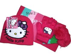 Hello Kitty Scarf, Gloves, & Hat set Pink in Clothing, Shoes & Accessories Cat Scarf, Winter Accessories, Kids Girls, 3 Piece, Hello Kitty, Coin Purse, Gloves, Snoopy, Hats