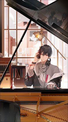 Dark Anime Guys, Cool Anime Guys, Handsome Anime Guys, Cute Anime Boy, Anime Boys, Anime Neko, Haikyuu Anime, Manga Anime, Kawaii Anime