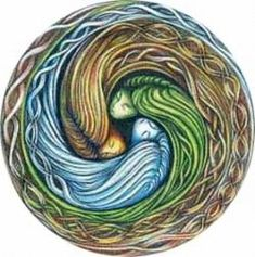 Triskele (Triple Spiral, Triskelion) - Closely related to the triquetra, this Celtic symbol, known as the Triple Goddess, is composed of three interlocked spirals that correspond to the three phases of womanhood. It symbolizes maidenhood, motherhood, and the crone; and represents the waxing, full and waning moons.