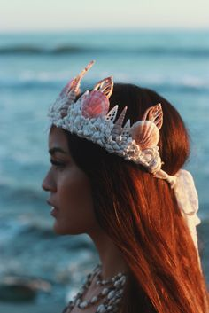 Melissa Parsons for Wild & Free Jewelry in the Crescent Mermaid Crown