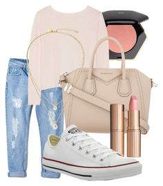 """""""Untitled #3"""" by luvmysocks on Polyvore featuring H&M, MANGO, Banjo & Matilda, Givenchy, Kate Spade, Charlotte Tilbury and Converse"""