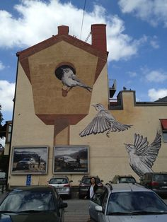 Artist 'Roadsworth' Continues to Transform Streets, Buildings and Sidewalks into a Visual Playground - Orebro-Bird-House
