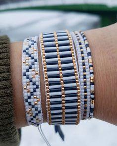 off loom beading stitches - bracelets Loom Bracelet Patterns, Bead Loom Bracelets, Bead Loom Patterns, Beaded Jewelry Patterns, Embroidery Bracelets, Beading Patterns, Beading Ideas, Jewelry Bracelets, Diamond Bracelets
