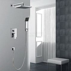Shower Tap Contemporary Waterfall / Thermostatic / Rain Shower / Handshower Included Brass Chrome