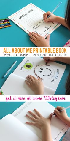 All About Me Printable Book - Elementary kids LOVE this fun activity!