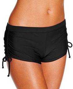 """Hula Honey Printed Tankini Top & Boyshorts Swim Bottom - Swimwear - Women - Macy's. Small is 26"""" waist"""