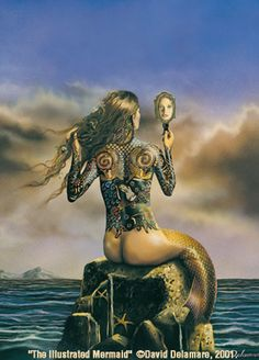✿ The Tattooed Mermaid ~ by David Delamare ✿