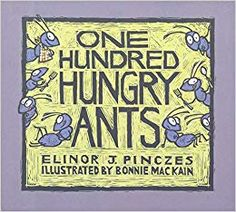 """Build number sense with """"One Hundred Hungry Ants"""" activities. Counting, grouping and practice building sets with this great book by Elinor J. Teaching Division, Teaching Math, Math Literacy, Numeracy, Math Teacher, Math Literature, Math Books, Kindergarten Lessons, Math Lessons"""