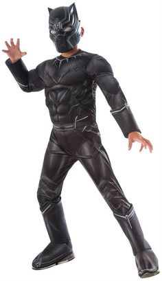 PartyBell.com - #Marvel's Captain America: Civil War Kids Black Panther Deluxe Muscle Chest Costume