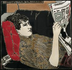 Reading the paper Cressida Campbell born 1960 in Sydney, Australia more: Wikipedia Sophie Gannon gallery Cressida Campbell G. Character Illustration, Graphic Design Illustration, Illustration Art, Australian Artists, Gravure, Illustrations, Art Images, Printmaking, Painting & Drawing