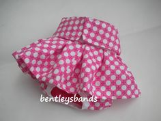 Pink Retro Dots size  LARGE dog diaper in season diaper panty. $12.00, via Etsy.
