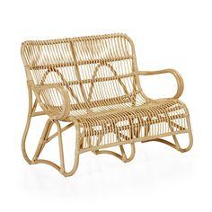 Chaise relax rétro en rotin style vintage - Arthur jardin ...