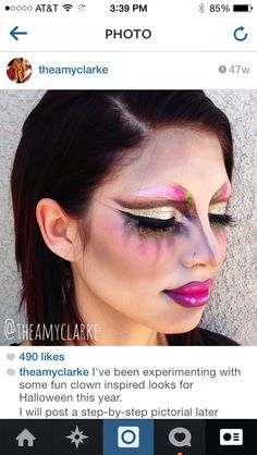 #clownmakeup look created by Amy Clarke #theamyclarke #halloweenmakeup @theamyclarke #clown