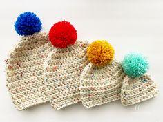 Bulky Beanie - free crochet pattern by Melissa Hassler / Lovable Loops. Double Crochet Beanie Pattern, Easy Crochet Hat Patterns, Chunky Crochet Hat, Beanie Pattern Free, Easy Crochet Projects, Crochet Baby Hats, Free Crochet, Crochet Ideas, Free Pattern