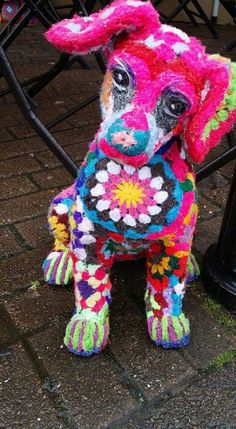 Yarn bombing Haverfordwest Pembrokeshire,