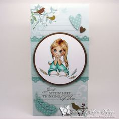 Little Butterfly Creations: DT-Card Stamp with Fun Challenge #203