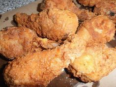 – Naturally, fried chicken is considered Southern cuisine. Folks young and old enjoy good fried chicken… especially home cooked. My husband says I'm the champion fried chicken cooker. Fried Chicken Livers, Cooking Fried Chicken, Good Fried Chicken, Chicken Cooker, Fried Chicken Recipes, Chicken Meals, Baked Chicken, Fried Chicken Ingredients, Kitchen Recipes