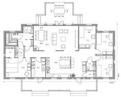 Simple House Plans, Dream House Plans, Dream Home Design, House Design, Finland, Villa, Floor Plans, How To Plan, Victorian