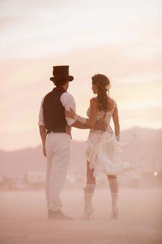 Victorian-Inspired Burning Man Wedding · Rock n Roll Bride