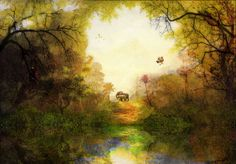 Landscapes by Valerie Anne Kelly, via Behance