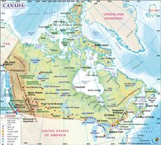 Unique Facts About Canada – Tattooed Travel Geography Map, World Geography, Canada In World Map, Largest Countries, Countries Of The World, Facts About Canada, Country Maps, Beach Kids, Location Map