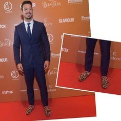 #PrêmioGeraçãoGlamour Ousadia masculina no tapete vermelho. Atenção para os sapatos animal print que o guapo @joaovicente27 escolheu para marcar presença! Amamos o fashionismo do rapaz. #geraçãoglamour  via GLAMOUR BRASIL MAGAZINE OFFICIAL INSTAGRAM - Celebrity  Fashion  Haute Couture  Advertising  Culture  Beauty  Editorial Photography  Magazine Covers  Supermodels  Runway Models