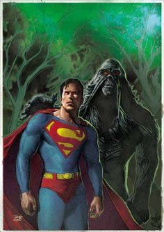 Superman and Swamp Thing by Renato Guedes